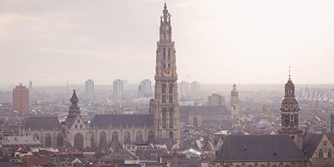 Foto van uitzicht over Antwerpen
