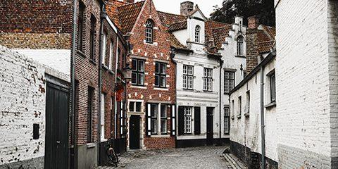foto van straat in Brugge