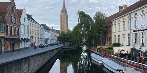 Foto van kanaal in Gent